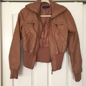 Delia*s Brown Bomber Jacket